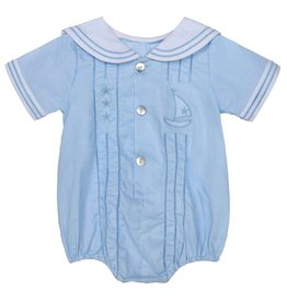 Aurora Royal Aurora Royal Baby Blue Nautical Sailor Romper