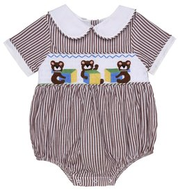 "Aurora Royal Aurora Royal Embroidered ""Three Bears"" Cotton Shortie"