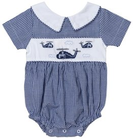 """Aurora Royal Aurora Royal Boy's Embroidered """"Helicopters"""" Cotton Shortie"""