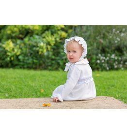 "Aurora Royal Aurora Royal Cream Knitted ""Lola"" Pram Coat & Bonnet Set"