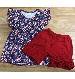 American Eagle 4th of July Pearl Tunic & Icing Short Set