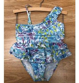 2pc Lilly Print Swim Suit