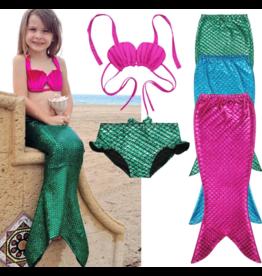 Mermaid Tail 3pc Bikini Set