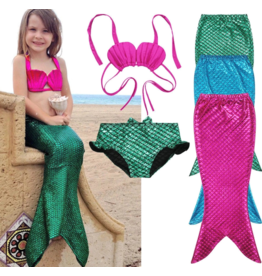 Mermaid Tail 3pc Bikini Set
