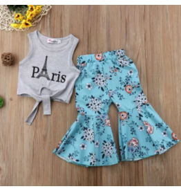 Paris Top w/Floral Bell Pants 18m