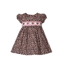 Bonnie Jean Cheetah Print Smocked Dress w/Panty