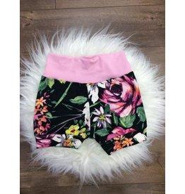 Jena Bug Baby Boutique Neon Floral Jogger Shorts