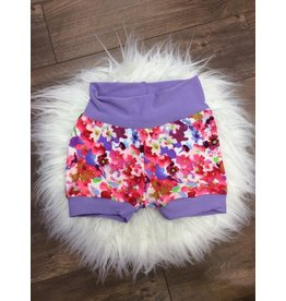 Jena Bug Baby Boutique Lilac Mini Floral Jogger Shorts