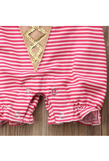 3D Icecream Cone Striped Romper