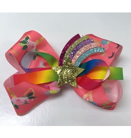 Rainbow Star Center Unicorn Bow