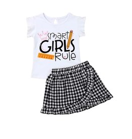 Smart Girl's Rule Skirt Set
