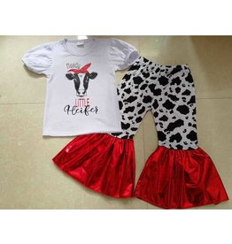 Moody Little Heifer Bell Pant Set