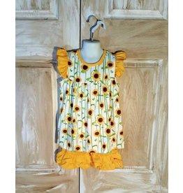 Sunflower Pearl Top Short Set
