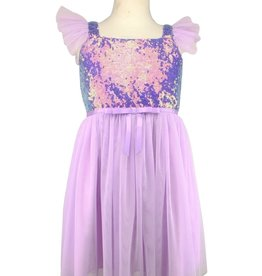 Popatu Posh trend Popatu Lavender Sequin Bodice Dress