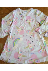 Lavender Long Sleeve Unicorn Dress
