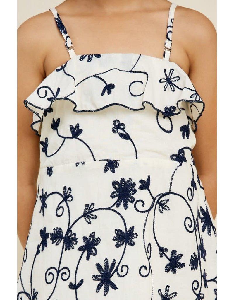 Hayden Los Angeles Floral Embroidered Babydoll Dress