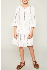 Hayden Los Angeles White Printed Bell Sleeve Tunic Dress