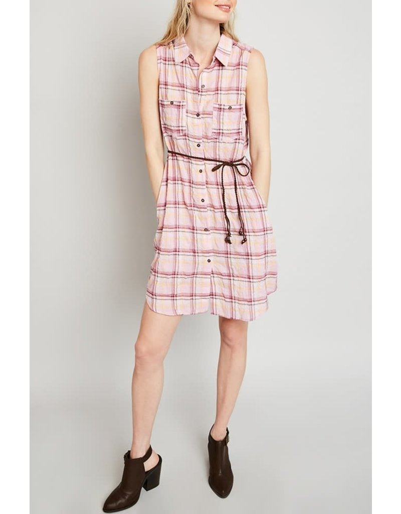Hayden Los Angeles Plaid Sleeveless Button Up Dress Mom & Me