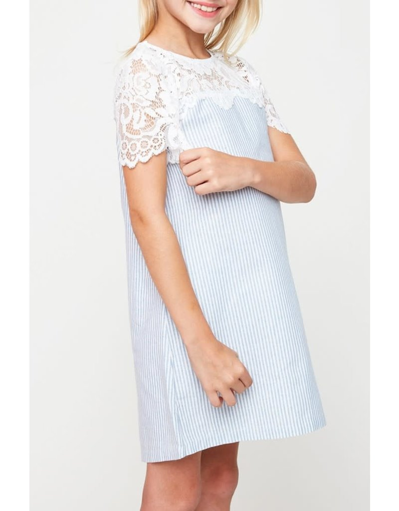 Hayden Los Angeles Lace Detailed Shirt Dress
