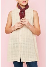 Hayden Los Angeles Sleeveless Button Up Long Tunic