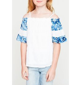 Hayden Los Angeles Off Shoulder White Floral Top