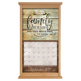 Contemporary calendar frame Natural Wood