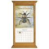 Honey Oak Vertical Wall Calendar Frame
