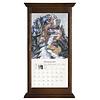Walnut Vertical Wall Calendar Frame