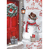 Snowman at the Door Boxed Christmas Cards