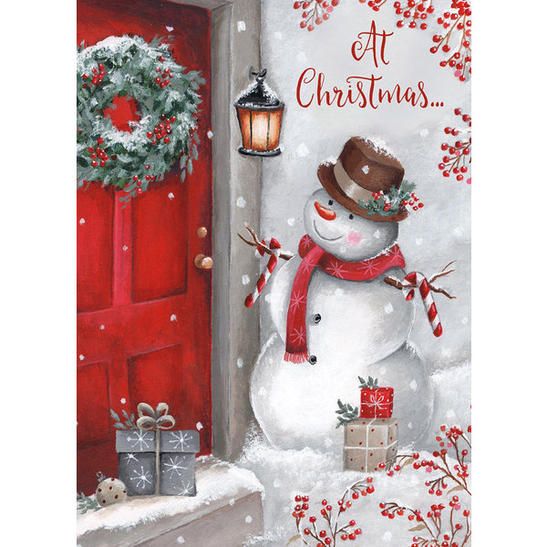 Legacy Snowman at the Door Boxed Christmas Cards