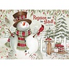Snowman with Sled Boxed Christmas Cards
