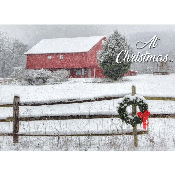 Legacy Snowy Barn Boxed Christmas Cards