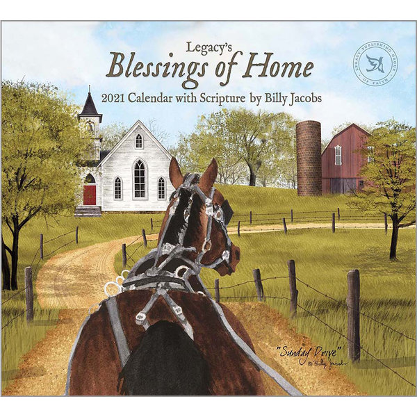 Legacy Blessings of Home Wall Calendar 2022 - with Scripture