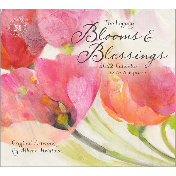 Legacy Blooms & Blessings Wall Calendar 2022 - with Scripture