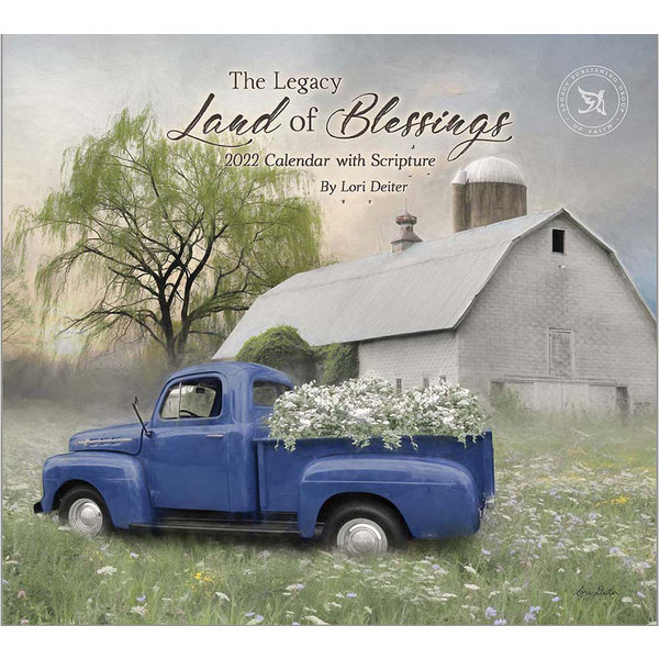 Legacy Land of Blessings Wall Calendar 2022 - with Scripture