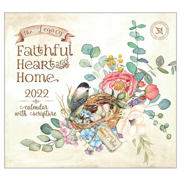 Legacy Faithful Heart and Home Wall Calendar 2022 - with Scripture
