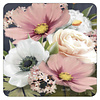 Pink and White Floral coaster set