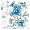 Blue Flowers & Dragonfly coaster set