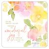 Pastel Orange, Pink, Yellow Flowers coaster set with Scripture