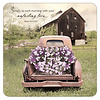 Truck with Flowers coaster set with Scripture