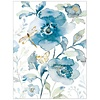 Blue Flower and Dragonfly Note Card Set