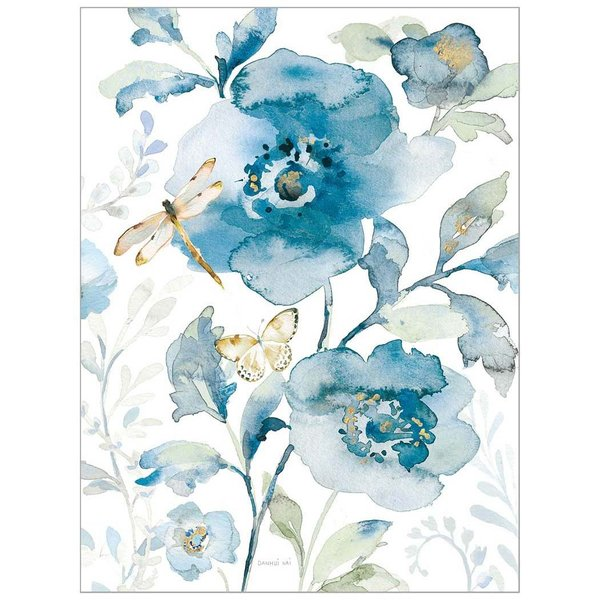 Legacy Blue Flower and Dragonfly Note Card Set
