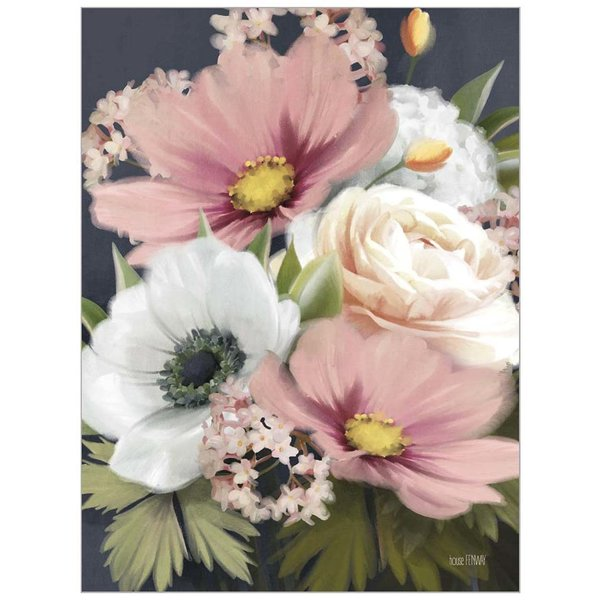 Legacy Pink and White Floral Note Card Set