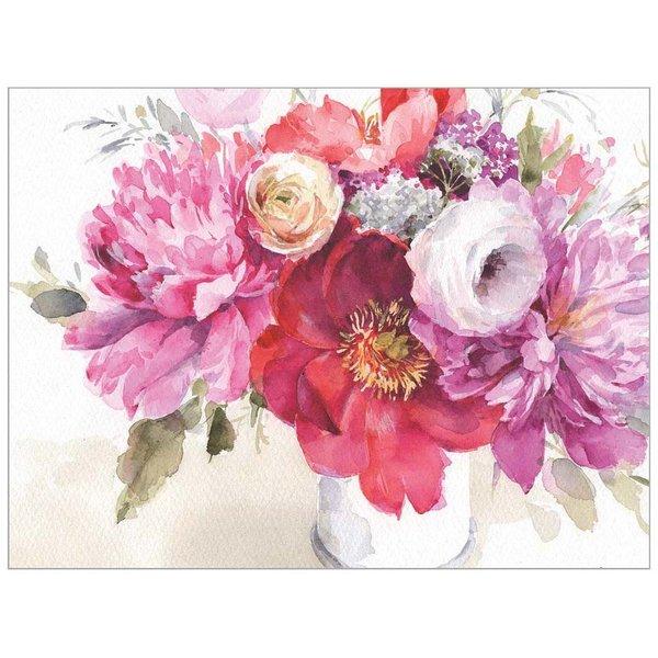 Legacy Pink Flowers in Vase Note Card Set  - Copy