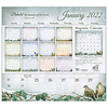 Songbirds of Faith 2022 magnetic calendar pad with Scripture