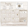 Faith and Family 2022 magnetic calendar pad with Scripture
