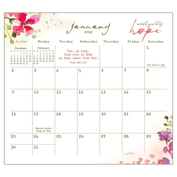 Legacy Be Still 2022 magnetic calendar pad with Scripture -