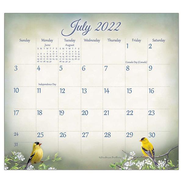 Legacy Songbirds 2022 magnetic calendar pad