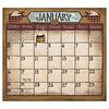 Folk Art by David 2022 magnetic calendar pad