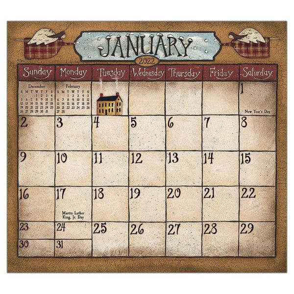 Legacy Folk Art by David 2022 magnetic calendar pad